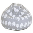 Gray Ellie Small Classic Bean Bag