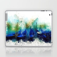 Venice Gondola painting Laptop & iPad Skin by Claude Gariepy