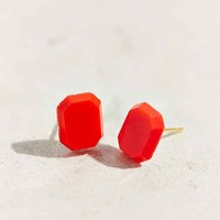 Diament Jewelry X Urban Renewal Red Gem Stud Earring- Red One
