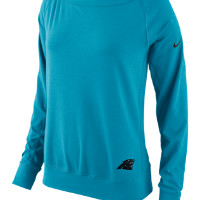 Nike Warpspeed Epic Crew (NFL Panthers) Women's Sweatshirt Size XS (Blue)