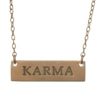 Beverly Madison Rose Gold Karma Necklace