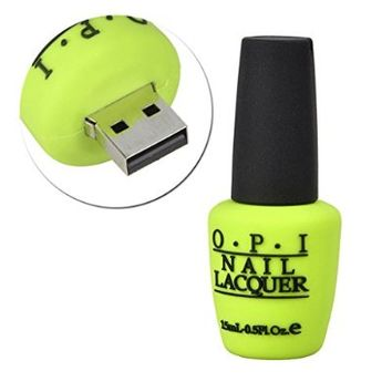 Sunworld Novelty 8GB USB 2.0 Flash Drive Ideal Student Awards Incentives Exclusive Data Storage Memory Stick in Nail Polish Bottle Style Green