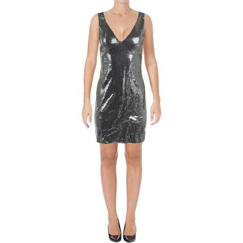 Aqua Capsule Womens Sequined Party Mini Dress