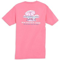 Ladies The Sea Will Set You Free Tee in Smoothie by Southern Tide