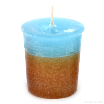 Double Scented Votive Candle Nag Champa/Rain on Sale for $2.99 at The Hippie Shop
