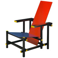 Armchair Red And Blue, Design Rietveld 1970