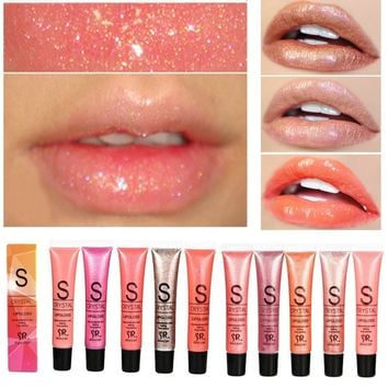 12 Colour Long Lasting Moisturizer Glitter Lip Gloss Tint Cosmetics Nutritious Shimmer Liquid Lipstick Beauty Lips Makeup