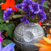 Death Star Flower Vase, Star Wars Decoration for Home or Garden, Great Gift!