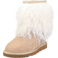 UGG-« Sheepskin Cuff Boot Womens, Size: 10 Color: Sand/Natural