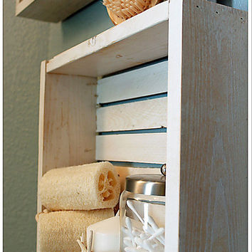 Rustic Beach Crate Wall Shelves {set of 2}