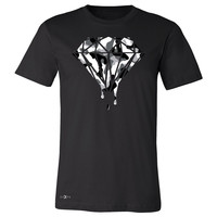 Zexpa Apparel™ Black n White Camo Dripping Diamond Men's T-shirt Melting Logo Tee