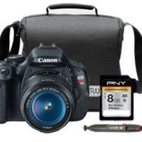 Canon EOS Rebel T3i DSLR Camera with 18-55mm Lens, Camera Bag, Lens Cleaning Pen & 8GB Memory Card