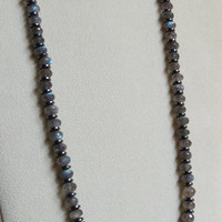 Labradorite Necklace with Hematite and Sterling Silver Clasp, Statteam