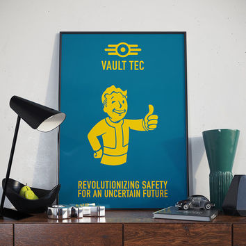 Vault Tec Slogan - Poster, Fallout, Video Game, Pip Boy