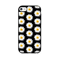 Daisy Pattern - Black - iPhone 6 Black Case (C) Andre Gift Shop