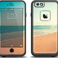(LifeProof Case & Skin Bundle!)The Vintage Beach Scene Apple iPhone 6 LifeProof Fre Case Skin Set (Black LifeProof Case Included)