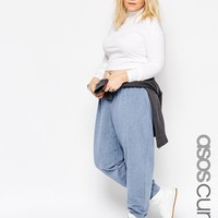 ASOS Curve | ASOS CURVE Denim Look Jogger at ASOS