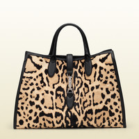 Gucci - leopard print calf hair top handle bag 362970CPR1N9071