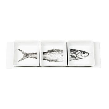 Fornasetti appetizer tray set