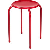 Stacking Stool Red | Homebase