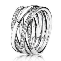 Authentic Pandora Jewelry - Entwined Ring