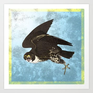 The hawk hangs perfect in mid air.. Art Print by anipani
