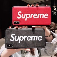Supreme tide brand men and women personality skin pattern iphone8 phone case