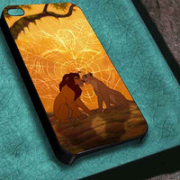 BLOCKCD Simba and Nala The Lion King  iphone 4/4s/5/5s/5c, samsung galaxy s3/s4/s5 and ipod touch 4/5 custom