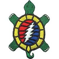 Grateful Dead Men's Embroidered Patch Green