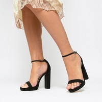 Coco Wren Wide Fit Platform Heeled Sandals at asos.com