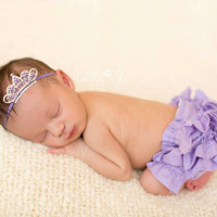 Lavender Tiara- Mini Tiara - Mini Crown-  Purple Crown- Baby Crown- Crown Headband- Newborn Crown- Baby Girl Headband- Photo Prop