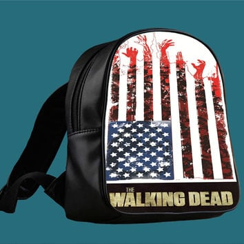 the walking dead flag for Backpack / Custom Bag / School Bag / Children Bag / Custom School Bag *
