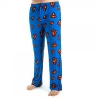 DC Comics Superman Logo All Over Print Men's Blue Sleep Pants
