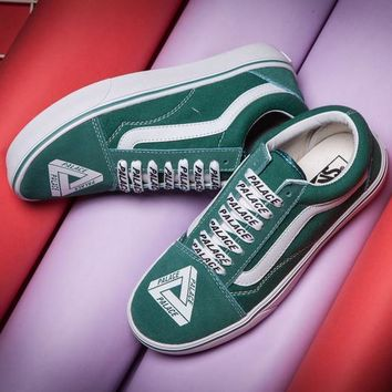Vans X Palace Canvas Old Skool  Flats Shoes Sneakers Sport Shoes
