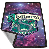 Harry potter slytherin nebula on Galaxy 309225a1-f31e-40e8-8492-4ce591c0ea1e for Kids Blanket, Fleece Blanket Cute and Awesome Blanket for your bedding, Blanket fleece *02*