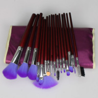 16 Pcs Purple Makeup Brushes Professional Cosmetic Eye Tool