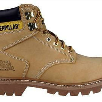 "Caterpillar Mens 6"" Work Boots 2nd Shift P70042 Honey Suede"