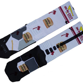 In n Out Custom Nike Elite Socks