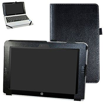 "HP Pavilion x2 10 / HP x2 210 G1 Case,Mama Mouth PU Leather Folio Stand Cover for 10.1"" HP Pavilion X2 10-n113dx n114dx n123dx n124dx n013dx / HP x2 210 G1 Detachable 2-in-1 Laptop/Tablet,Black"