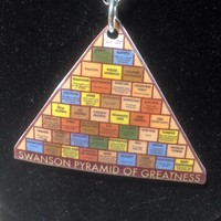 "Ron Swanson ""Pyramid of Greatness"" - 18 Inch Silver Chain Necklace"