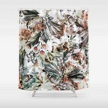 Orchidaceae Shower Curtain by VS Fashion Studio