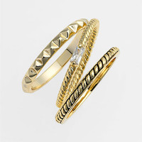 Ariella Collection Stackable Rings (Set of 3) | Nordstrom
