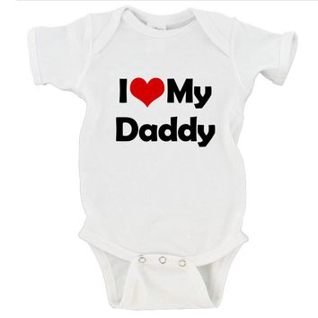 I Heart Love My Mommy / Daddy Gerber Onesuit ®