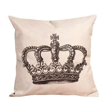 Queen Crown Throw Pillow Cover