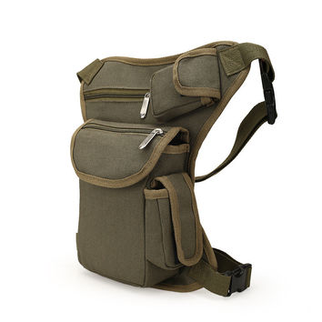 Multi-functional Unisex Canvas Military Tactical Travel Hiking Motorcycle Cycling Pack Outdoor Fishing gear Waist Bags