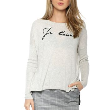 Decker Luxe Je T'Aime Sweater