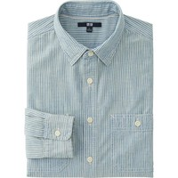 MEN CHAMBRAY LONG SLEEVE SHIRT | UNIQLO