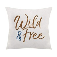 """""""Wild & Free"""" Square Pillow by Stratton Home Decor"""