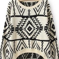 Geometry Long Sleeve Sweater