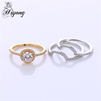 Thin Band 3pcs Ring Set Semi Micro Pave Cubic Zirconia Eternity Band Stacking Wedding Rings for Women Minimalist Ring Set Anel